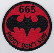 Army Air Corps AAC Sqn Patch 665 Squadron Ops a Bat Gazelle Lynx