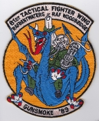 USAF Patch Fighter USAFE 81 TFW Tactical Ftr Wing g A 10 j 89 a