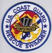 USCG Aviation Patch United States Coast Guard Rescue Swimmer EB