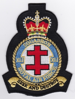 RAF Patch 41 Squadron Royal Air Force Tornado Test Eval Crest EB