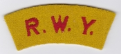 British Army Patch Shoulder Title Arm RWY Wiltshire Yeomanry RAC