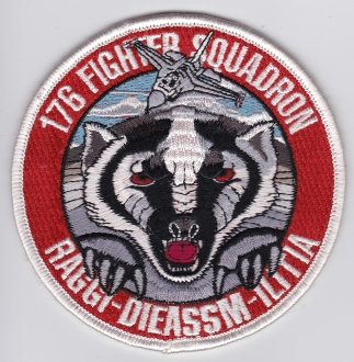 USAF Patch ANG 176 u FS Fighter Squadron F 16 a Raggidie