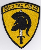 USAF Patch Fighter c 561 TFS Tactical Ftr Sqn F 105 Vietnam