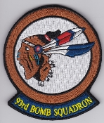 USAF Patch Bomb 93 BS Squadron B 52 Stratofortress b EB