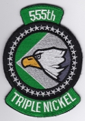 USAF Patch Fighter USAFE 555 FS Ftr Squadron F 16 5a EB
