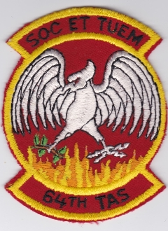 USAF Patch Airlift 64 TAS Tactical Airlift Squadron EB