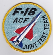 USAF Patch Test F 16 AFFTC JTT Joint Test Team ACF