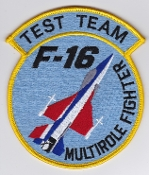 USAF Patch Test F 16 416 TS Test Sq Multirole Fighter Test Team