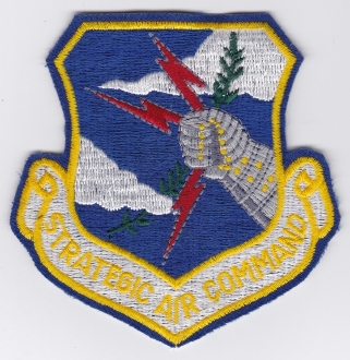USAF Patch Bomb SAC Strategic Air Command Shield d Scroll a