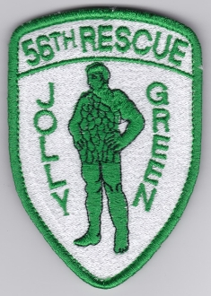 USAF Patch Rescue USAFE 56 RQS Rescue Squadron Jolly Green d