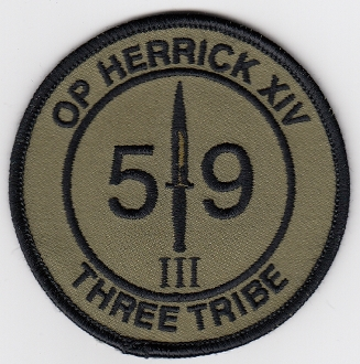 British Commando Patch 59 Squadron Royal Engineers Herrick XIV