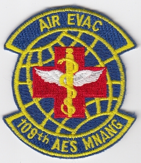 USAF Patch ANG 109 AES Aeromedical Evacuation Squadron a