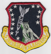 USAF Patch Fighter USAFE 48 TFW Tactical Ftr Wing F111 o Libya c