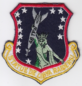 USAF Patch Fighter USAFE 48 TFW Tactical Ftr Wing F111 o Libya a