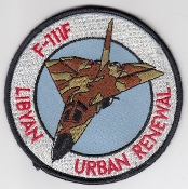USAF Patch Fighter USAFE 48 TFW Tactical Ftr Wing F111 o Libya j