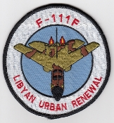 USAF Patch Fighter USAFE 48 TFW Tactical Ftr Wing F111 o Libya k