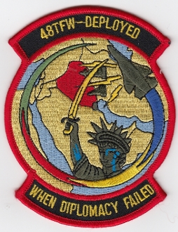 USAF Patch Fighter USAFE 48 TFW Tactical Ftr Wing F111 p Iraq e
