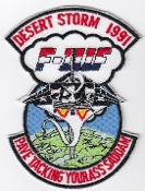 USAF Patch Fighter USAFE 48 TFW Tactical Ftr Wing F111 p Iraq h