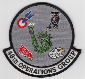 USAF Patch Fighter USAFE 48 u FW Ftr Wing F 15 OG Operations b