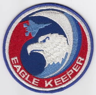 USAF Patch Fighter USAFE 32 TFS Tactical Ftr Squadron h F 15 MUb