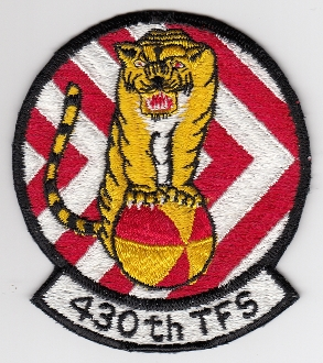 USAF Patch Fighter 430 TFS Tactical Ftr Squadron F 111 Nellis