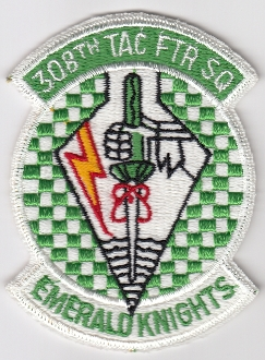USAF Patch Fighter 308 TFS Tactical Ftr Squadron F 4 Phantom