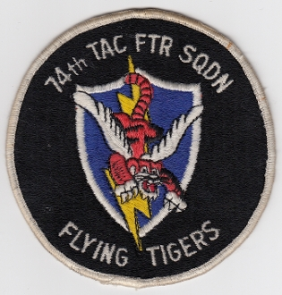 USAF Patch Fighter 74 TFS Tactical Ftr Squadron A 7D Corsair