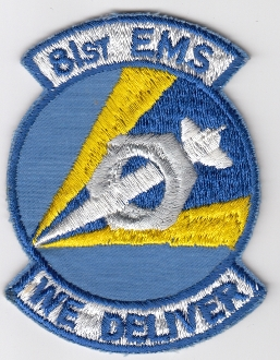 USAF Patch Fighter USAFE 81 TFW Tactical Ftr Wing g A 10 m EMS a