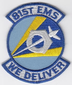 USAF Patch Fighter USAFE 81 TFW Tactical Ftr Wing g A 10 m EMS c