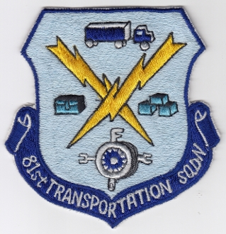 USAF Patch Fighter USAFE 81 TFW Tactical Ftr Wing F 101 Trans Sq