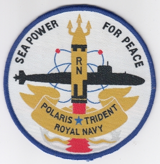Royal Navy Patch Submarine Weapons RN Polaris Trident Faslane