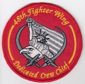 USAF Patch Fighter USAFE 48 u FW Ftr Wing s F 15 AMU Crew Chief