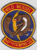 USAF Patch Fighter 66 FWS Ftr Weapons Squadron Wild Weasel F 105
