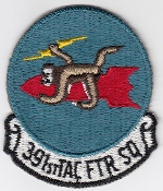 USAF Patch Fighter 391 TFS Tactical Ftr Squadron F 111