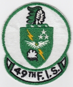USAF Patch Fighter 49 FIS Interceptor Squadron F 106 Dart crb