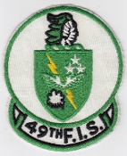 USAF Patch Fighter 49 FIS Interceptor Squadron F 106 Dart cra