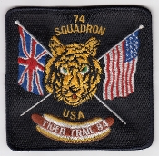 RAF Patch j 74 Squadron Royal Air Force Phantom F4J UK USA 84