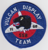 RAF Patch Royal Air Force Vulcan Display Team 1988 558
