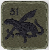 RAF Patch Regt sb 51 Squadron Royal Air Force Regiment 1980s La