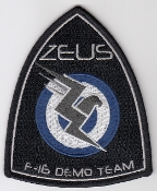Greek Hellenic Air Force HAF Patch F 16 Demo Team Zeus 2014 a