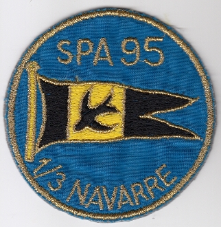 French Air Force ALA Patch Ftr cb 3 1 EC f Escadrille SPA 95 a