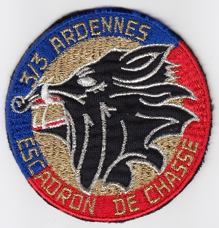 French Air Force ALA Patch Ftr cb 3 3 EC Escadron Chasse b