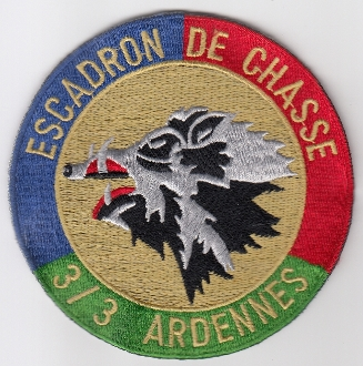 French Air Force ALA Patch Ftr cb 3 3 EC Escadron Chasse c