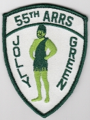 USAF Patch Rescue b 55 ARRS Aerospace Recovery Sqn Jolly Green c
