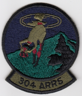 USAF Patch Rescue c 304 ARRS Aerospace Recovery Squadron sa