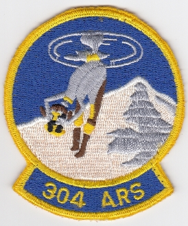 USAF Patch Rescue c 304 ARS Air Rescue Squadron HH 1 Huey a