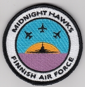 Finnish Air Force Patch Midnight Hawks Aerobatic Display Team b