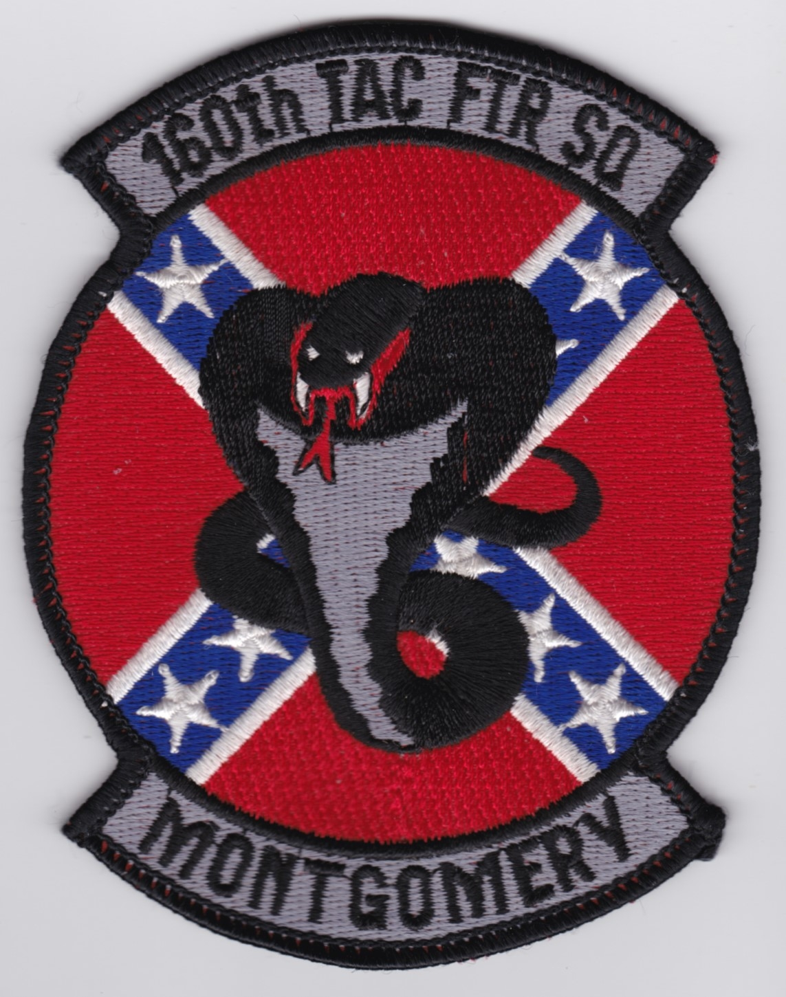 USAF Patch ANG 160 TFS Tactical Fighter Squadron F 16 b
